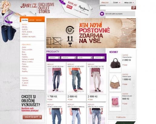 Internetový obchod Jeany.cz