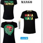 Kolekce triček pro charitativní účely (Mango, Shakira, UNICEF)
